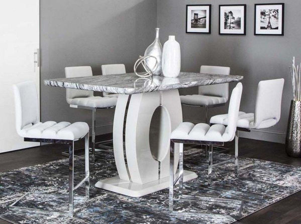 Picture of DYANE GRAY DINETTE + 5 CHAIRS