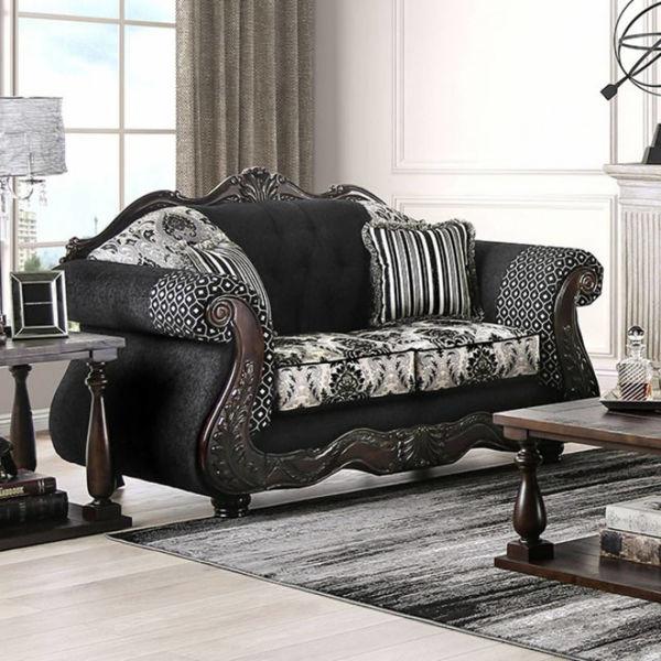 Picture of RONJA BLACK SALON LOVE SEAT