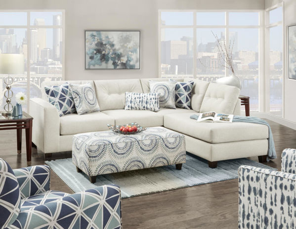 Picture of WEXLER SMOKE SECTIONAL + CHAIR