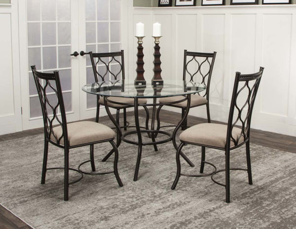 Picture of HOLLY BRONZE/GLASS ROUND 5PC