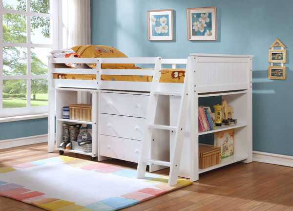 Picture of TOLI LOFT BED WITH DESK WHITE