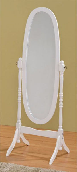 Picture of WHITE FINISH CHEVAL MIRROR