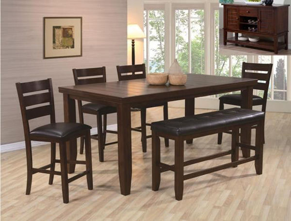Picture of BARDSTOWN ESPRESSO 6PC DINETTE