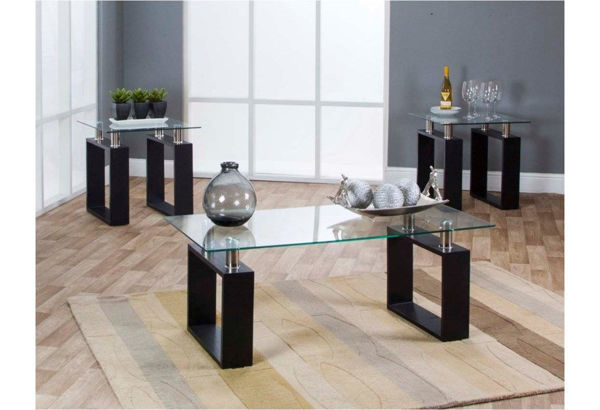 Imagen de 3PK BLACK OCCASIONAL TABLE