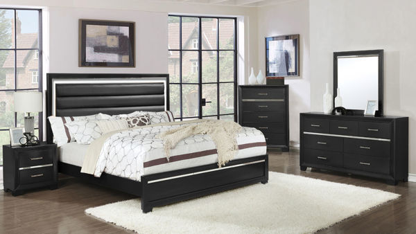 Picture of PANDORA BLACK TWIN 7PC BEDROOM