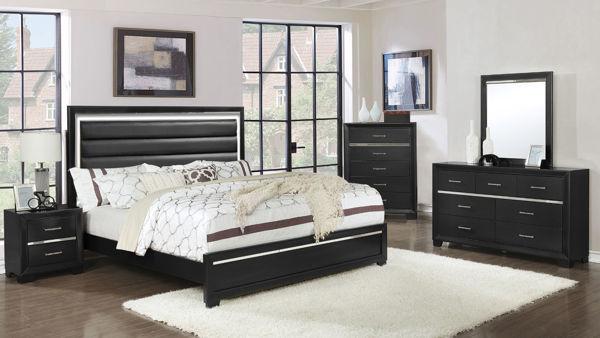 Imagen de PANDORA BLACK TWIN 7PC BEDROOM