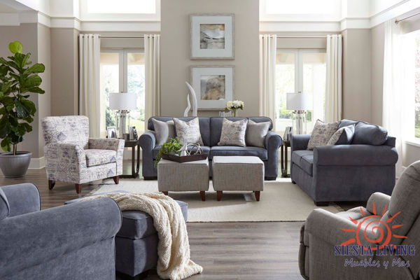 Picture of SLATE BLUE LOVESEAT