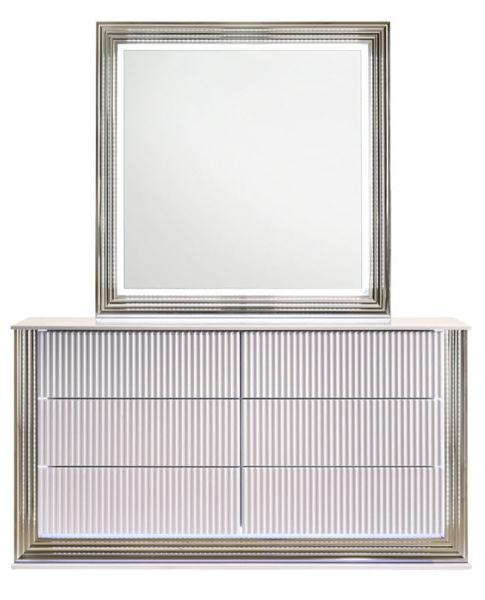 Picture of ASPEN GLOSS WHITE DRESSER+LED