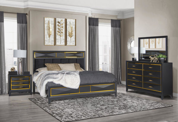 Picture of GAUDI BLACK KING 5PC SUITE