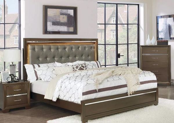 Picture of Pandora Twin Bed H/F Bronze