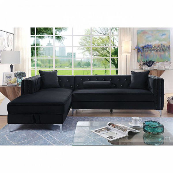 Picture of AMIE POSH SECTIONAL BLACK