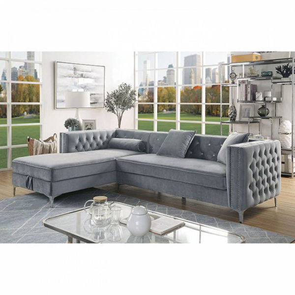 Picture of AMIE POSH SECTIONAL GRAY