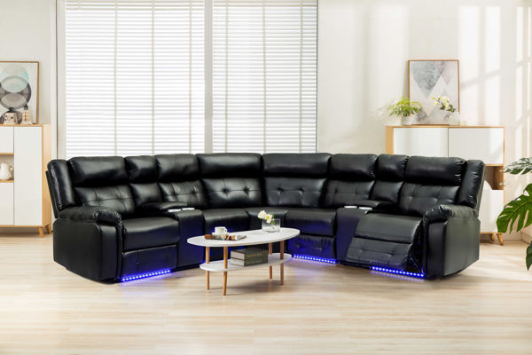 Picture of COBALT PWR SECTIONAL BLACK