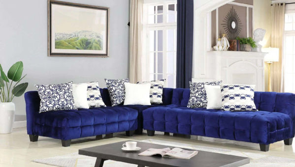 Picture of AUBREY ROYAL BLUE SECTIONAL