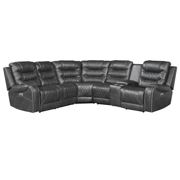 Picture of PUTNAM POWERED SECTIONAL GRAY