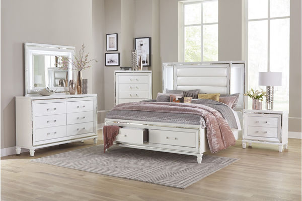 Picture of TASMIN WHITE KING 5PC SUITE