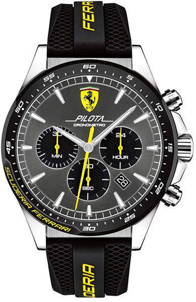 Picture of FERRARI WATCH SILICONE BLACK
