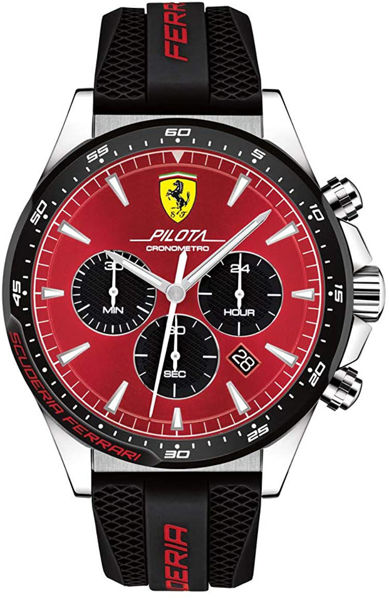 Picture of FERRARI PILOTA STAINLESS WATCH