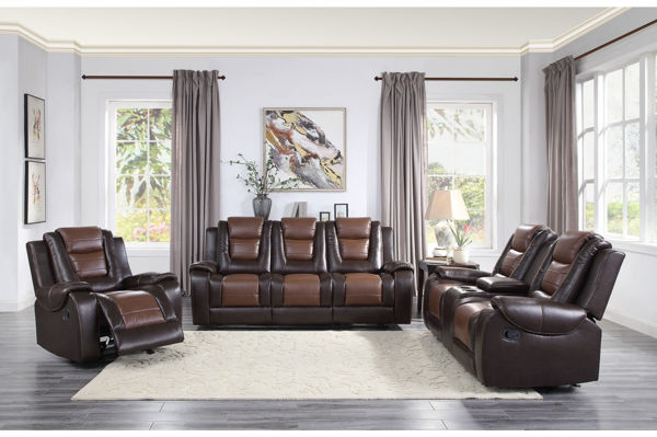 Picture of BRISCOE BROWN RECLINING SOFA/L
