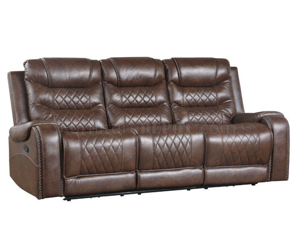 Picture of PUTNAM BROWN POWER SOFA/LOVE
