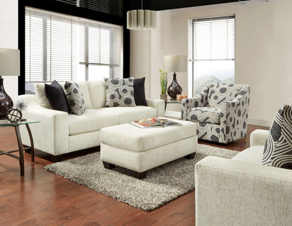 Picture of TEMPLE CREAM SOFA WITH HIGHWAY