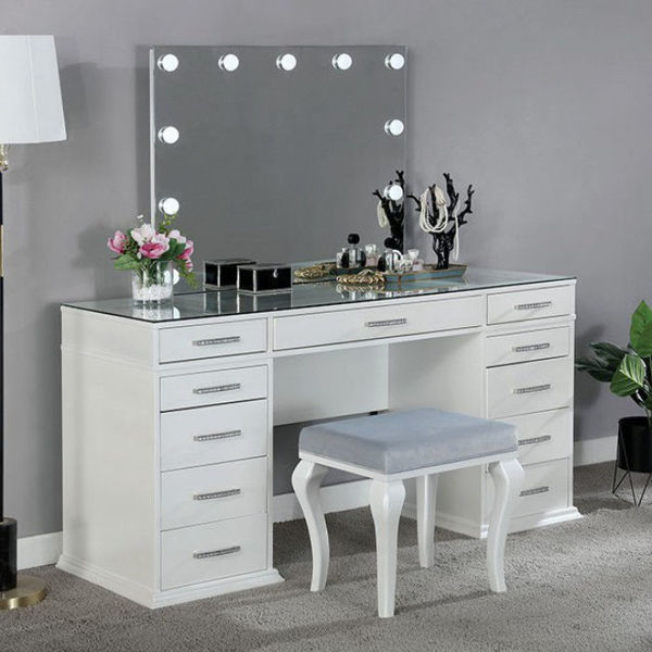 Picture of VALENTINA VANITY SET WHITE