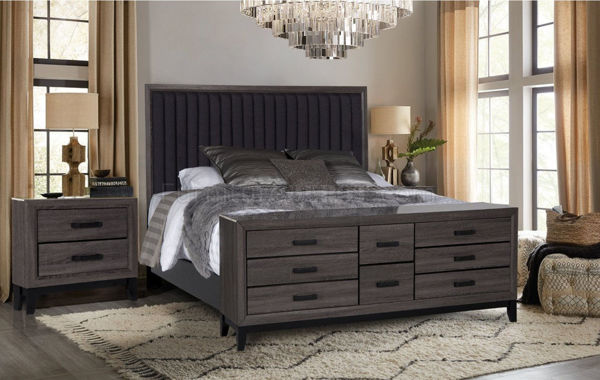 Picture of LAURA FOIL KING 7PC BEDROOM