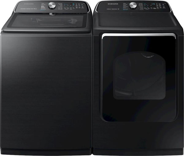 Picture of BLACK STAINLESS LAUNDRY PAIR