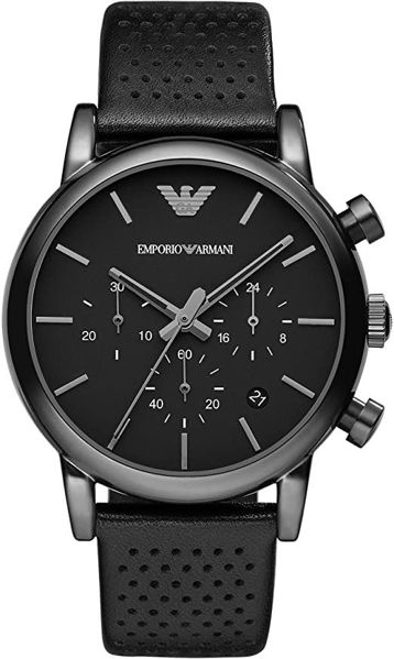 Picture of MENS DRESS BLACK LEATHER WATCH