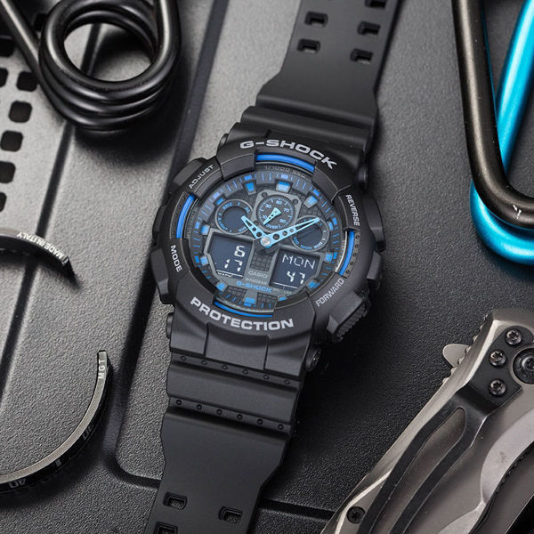 Picture of G SHOCK XL BLACK/BLUE