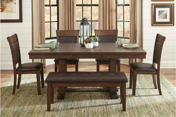 Picture of WIELAND RUSTIC BROWN DINETTE +