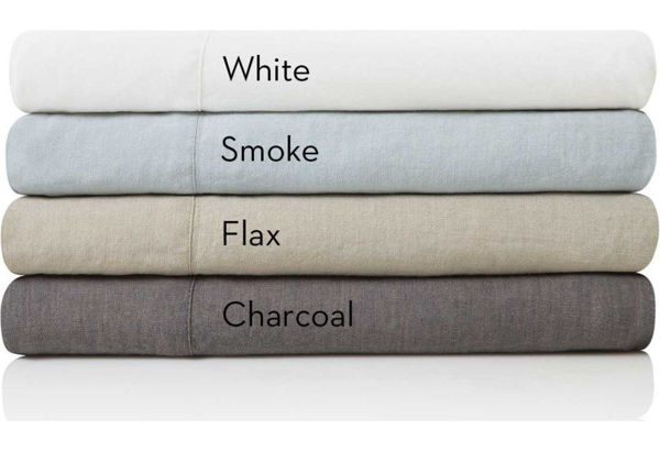 Picture of WOVEN FRENCH LINEN SET SMOKE