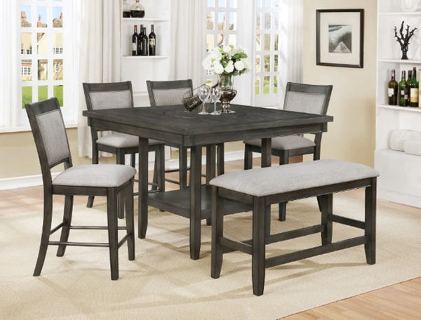 Picture of FULTON GRAY 6PC DINETTE GRAY