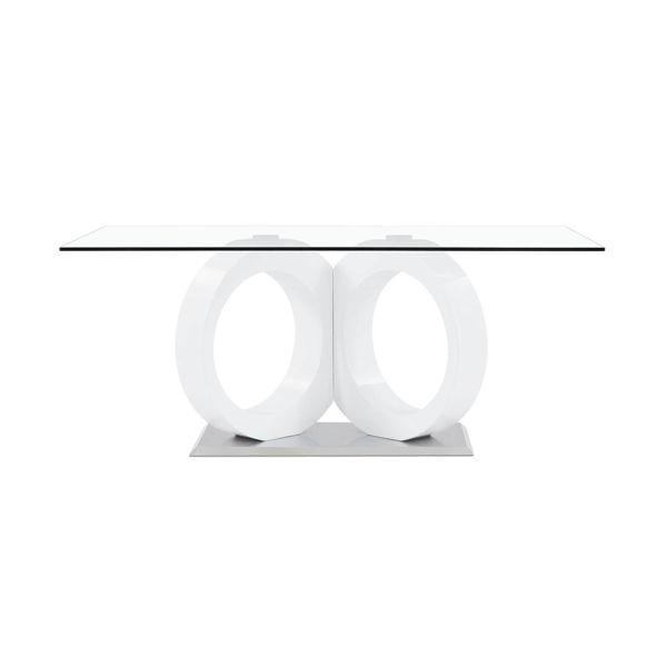 Imagen de DELROY WHITE GLASS TABLE