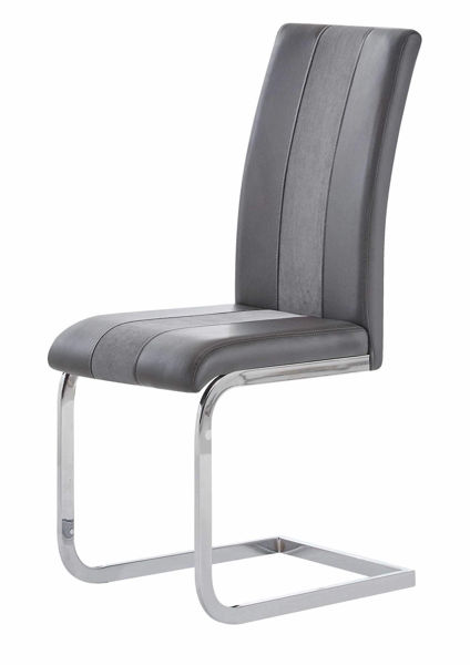 Picture of GREY CHAIR WITH BK STRIPE-PAIR