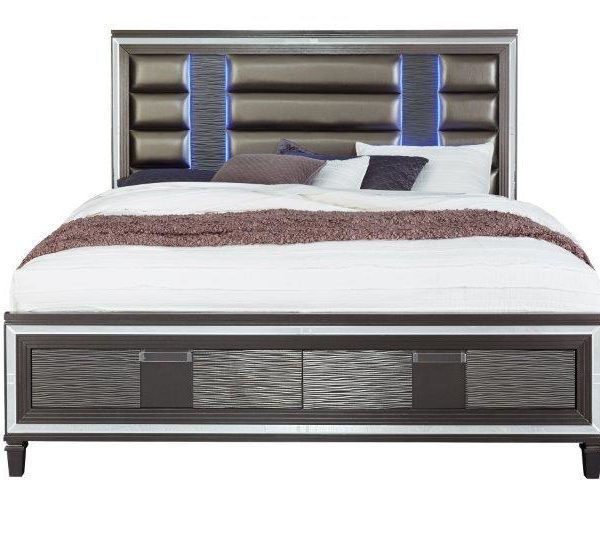 Picture of PISA KING BED COMPLETE GRAY