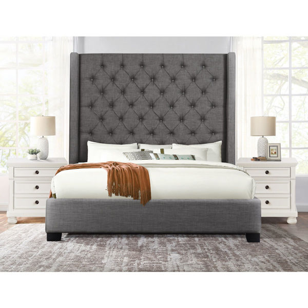 Picture of SHAY DARK GRAY KING BED