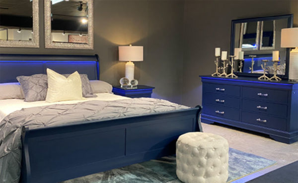 Picture of CHARLIE BLUE LED BED QUEEN
