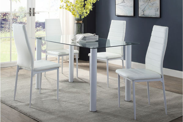 Picture of FLORIAN 5PC WHITE DINING SET