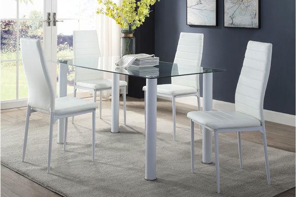 Imagen de FLORIAN 5PC WHITE DINING SET
