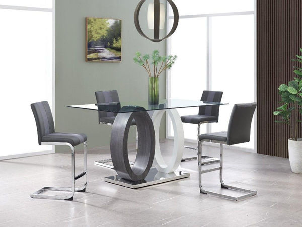 Picture of GINIA GRAY 7PC PUB HT DINETTE