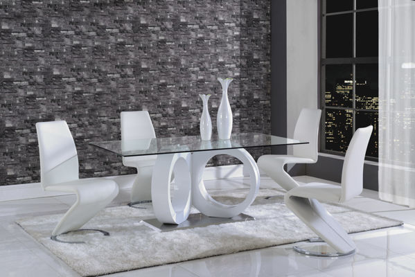 Picture of DELROY 7PC. WHITE DINING TABLE