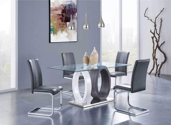 Picture of GINIA GRAY 7PC DINETTE(REG HT)