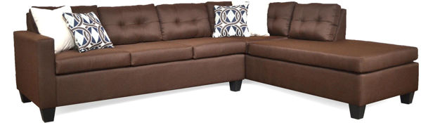 Imagen de LUNA SECTIONAL IN CHOCOLATE