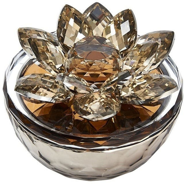 Picture of AMBER CRYSTAL LOTUS BOX