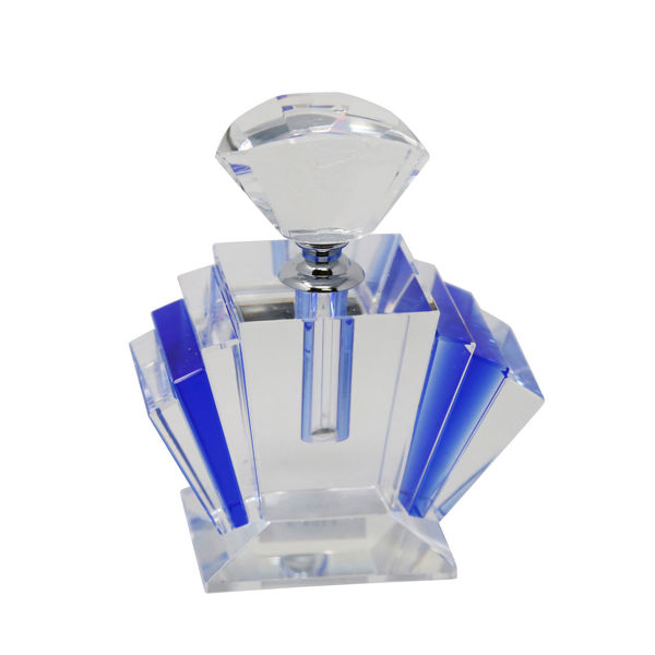 Picture of BLUE CRYSTAL PERFUME BOTTLE 5'