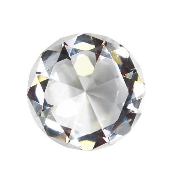 "Picture of GLASS DIAMOND DECOR, 4.75"", CL"