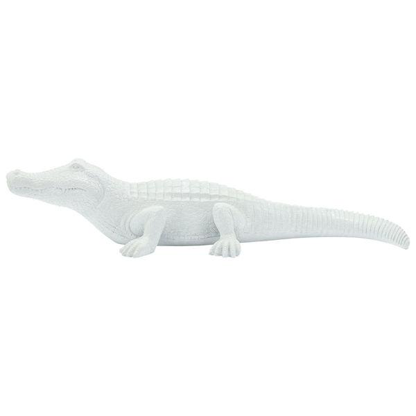 Picture of CROCODILE FIGURINE, WHITE