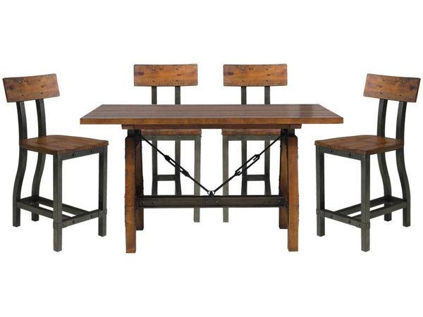 Picture of LENNON 5PC CNTR HT TABLE SET