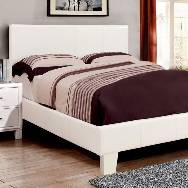 Picture of WINN PARK WHITE QUEEN PU BED